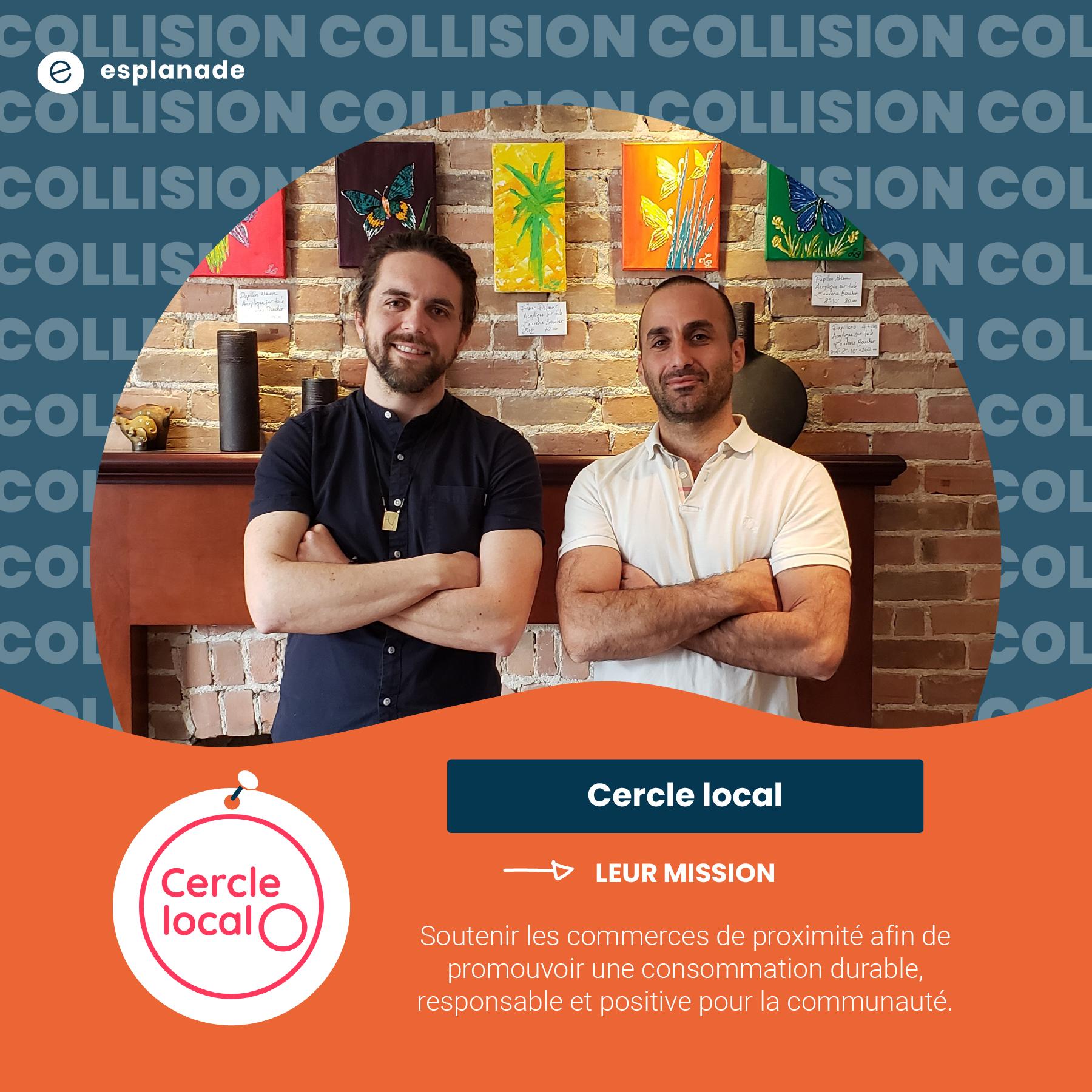 David Habak et Rodrigo Trespalacios de Cercle local